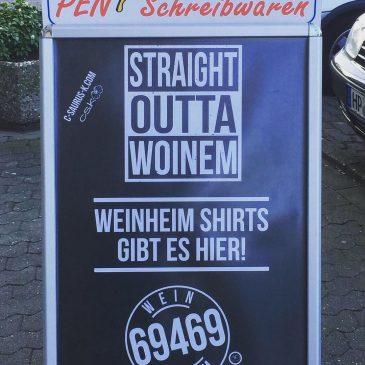 Weinheimshirts erhältlich bei Pen Schreibwaren (Weststadtkiosk)